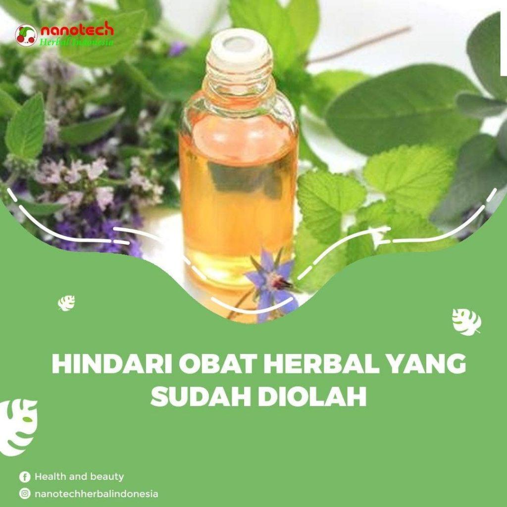 tanaman herbal yang sudah diolah