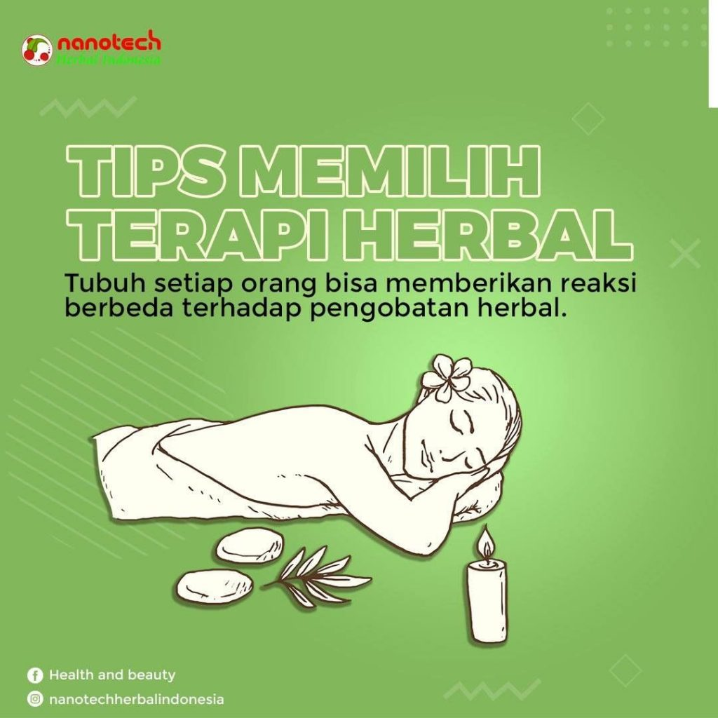 tips memlilih terapy herbal
