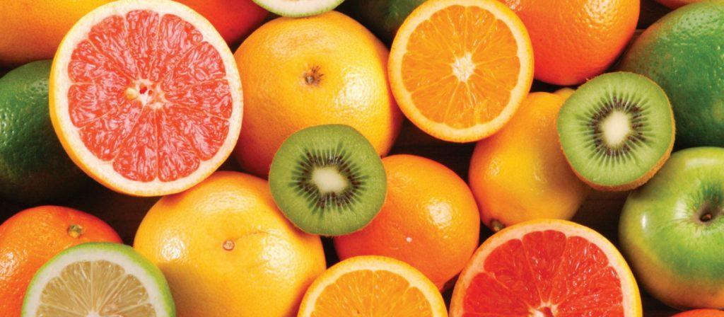 buah dan sayuran berwarna orange